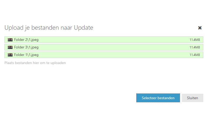 Update 2.56: Mappen uploaden en bijlagen opslaan naar de fileserver