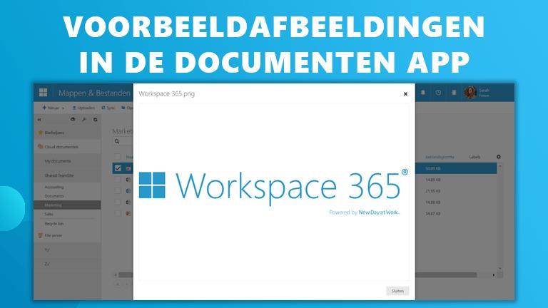Voorbeeldafbeeldingen Workspace 365