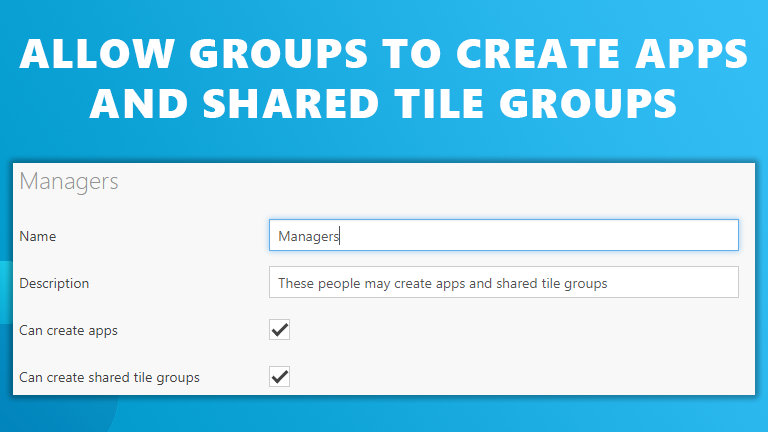 Groups create apps shared groups Workspace 365