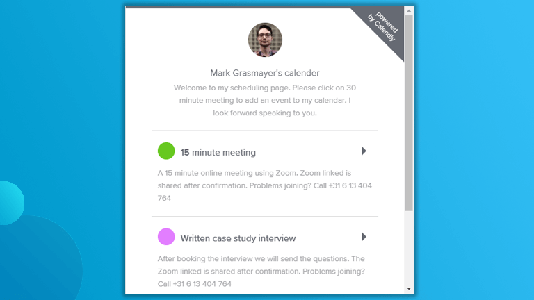 How we've simplified scheduling (follow-up) meetings using one single tile